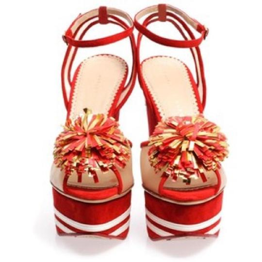 Charlotte Olympia Red Wedges Image 9