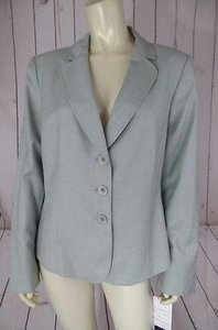 Kasper Kasper Blazer Soft Mint Palest Green Poly Rayon Stretch Blend Chic