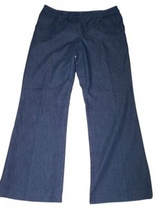 Christopher & Banks Size 10 Light Weight Bell Flare Pants DARK BLUE