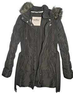 Hollister Puffy Medium Large Faux Fur Warm Coat