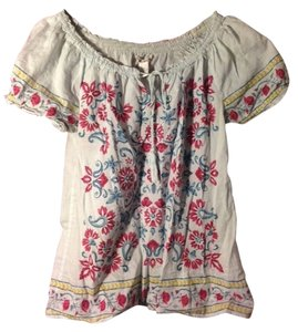 Lucky Brand Peasant Top Floral