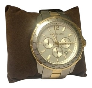 Michael Rome silver and gold boyfriend watch