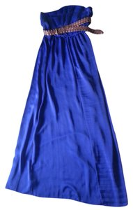 royal blue Maxi Dress by City Triangles Maxi Flowy Strapless