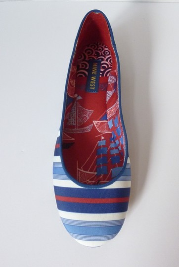 Nine West Blue, White & Red Flats