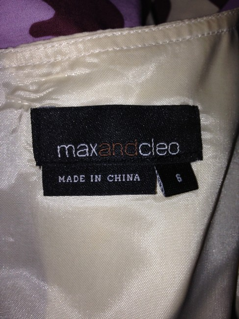 Max and Cleo short dress Purple Brown Cream Size 6 on Tradesy