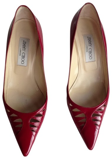 Preload https://item3.tradesy.com/images/jimmy-choo-cherry-red-patent-leather-w-cutouts-pumps-size-us-75-137077-0-0.jpg?width=440&height=440