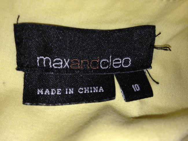 Max and Cleo short dress Yellow Size 10 on Tradesy