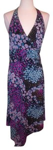 Purples Maxi Dress by Max and Cleo Halter Size Large