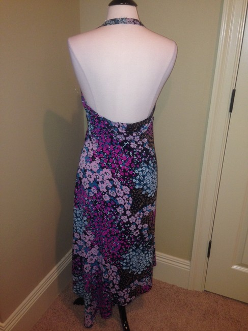 Purples Maxi Dress by Max and Cleo Halter Size Large Image 1