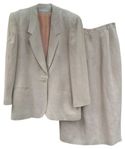 Evan Picone Linen Skirt Suit Set