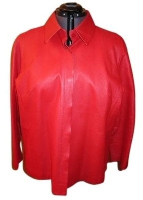 Preload https://item4.tradesy.com/images/lane-bryant-red-shirt-style-leather-jacket-size-22-plus-2x-13708-0-0.jpg?width=400&height=650
