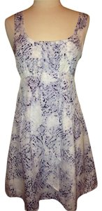 Jessica Simpson short dress White Blue Size 6 on Tradesy
