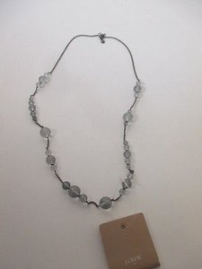 J.Crew J.crew Grey Bead Gunmetal Chain Layering Necklace