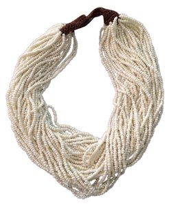 Beige Multi- Strand Torsade Necklace