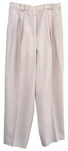 Chanel High Waist Trousers Vintage 90s Baggy Pants Cream/Beige