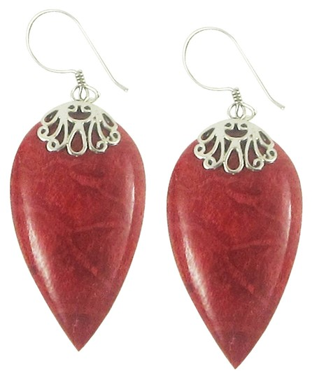 Island Silversmith Island Silversmith Red Coral .925 Sterling Silver Arrowhead Earrings 0201T *FREE SHIPPING*