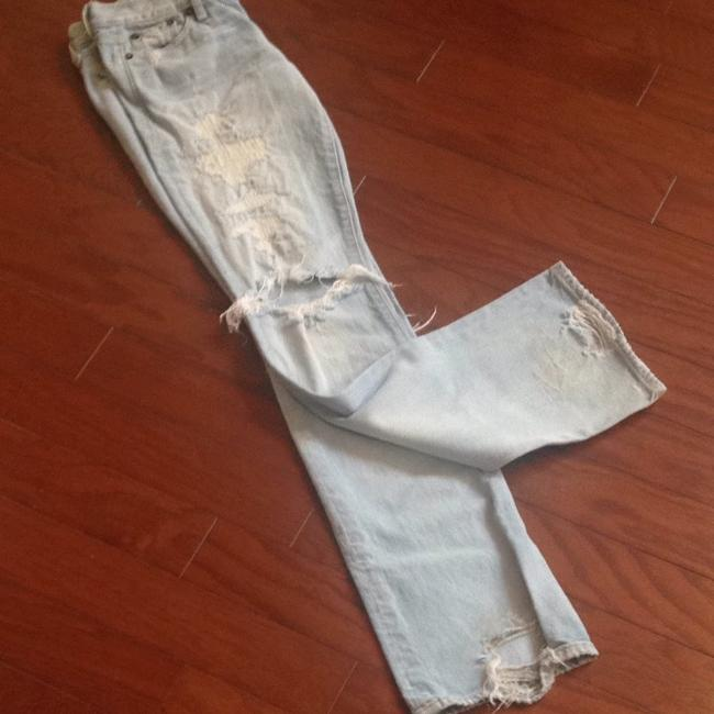 Abercrombie & Fitch Straight Leg Jeans-Light Wash