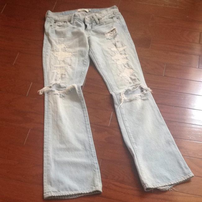 Abercrombie & Fitch Straight Leg Jeans-Light Wash Image 4