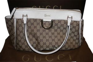 Gucci Leather Monogram Classic Shoulder Bag