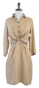 Burberry Brit short dress Tan Silk Button Up Top on Tradesy
