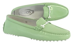 Tod's Mint Green Patent Leather Flats