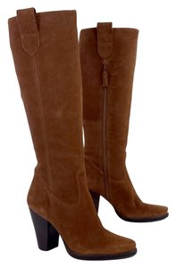 Via Spiga Rust Colored Suede Knee High Boots