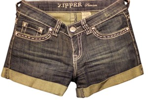 Demin Short Blue Juniors Cuffed Shorts Denim