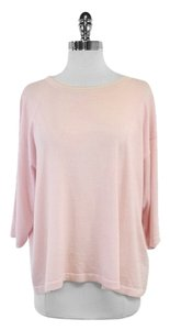 Eskandar Pink 3/4 Sleeve Cashmere Cotton Top