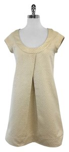 Diane von Furstenberg Gold Metallic Shift Dress