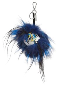 Fendi Tie Dye Fur Bag Bug Cube Monster Key Chain Bag Charm