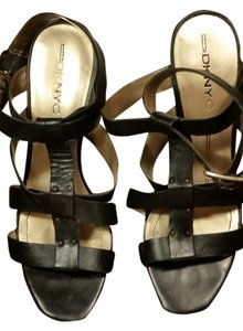 DKNY Gladiator Leather Punk Black Sandals