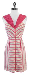 Plenty by Tracy Reese short dress Pink Blue Striped Linen on Tradesy