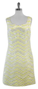 Lilly Pulitzer short dress Yellow Gold Wavy Print on Tradesy