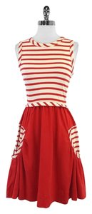 Marc by Marc Jacobs short dress Red Cream Striped Cotton on Tradesy