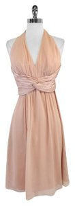 Carlos Miele Blush Halter Silk Dress