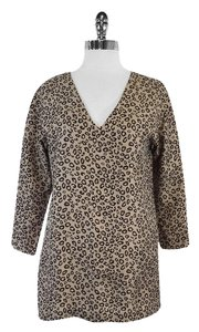 Theory Beige Leopard Print Tunic