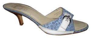 Coach blue & white Sandals
