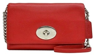 Coach 53083 Red Leather Cross Body Bag