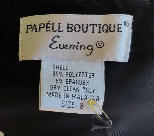 Papell Boutique Evening Gown Ball Gown Velvet Dress Image 3