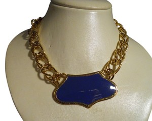 MONET double link chain with enamel pendant