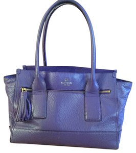Kate Spade Purple Leather Laptop Tote in Aster (purple)