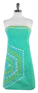 Lilly Pulitzer short dress Light Green Embroidered Cotton on Tradesy