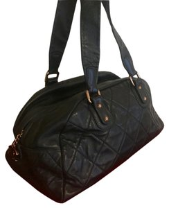 Chanel Lambskin Quilted Satchel in Black