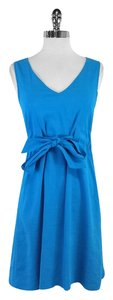 Theory short dress Turquoise Linen Sleeveless on Tradesy