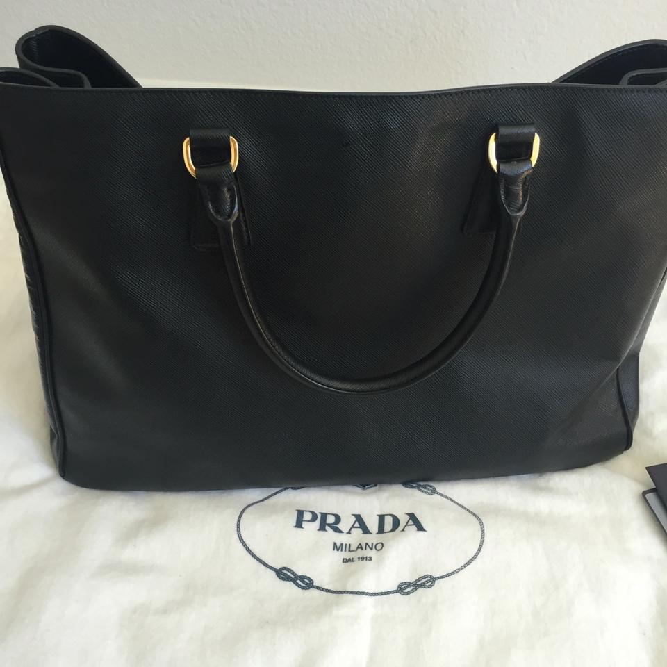 ec1703fee2eb Prada Lux Saffiano Large In Nero Black Leather Tote - Tradesy