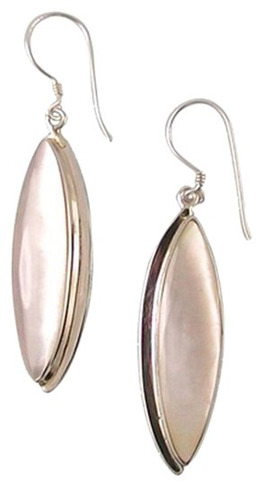 Island Silversmith Island Silversmith 925 Sterling Silver Mother of Pearl MOP Earrings 0201M *FREE SHIPPING*