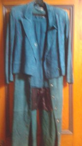 Mario Valentino Mario Valentino suede three piece skirt jacket and long vest