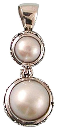 Island Silversmith Island Silversmith Double White Mabe Pearl 925 Silver Pendant 0201G *FREE SHIPPING*