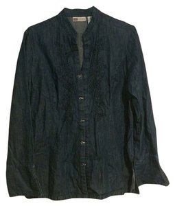 Faded Glory Button Down Shirt blue