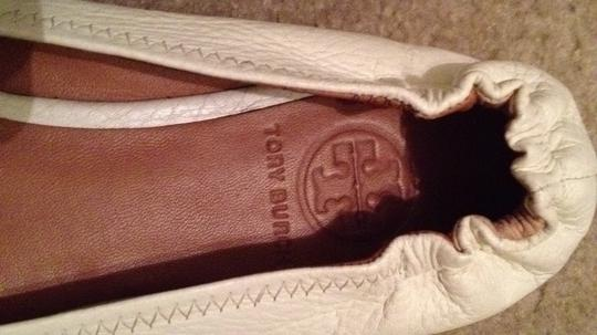 Tory Burch white leather Flats